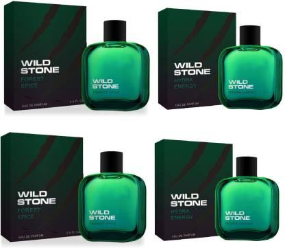 Wild Stone 2 Forest Spice and 2 Hydra Energy EDP Perfume 50ml Each (Pack of 4) Eau de Parfum  -  200 ml