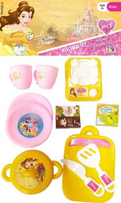Disney Princess Bella Role Play Kitchen Set For Kids Princess Bella Role Play Kitchen Set For Kids Buy Belle Toys In India Shop For Disney Products In India Flipkart Com
