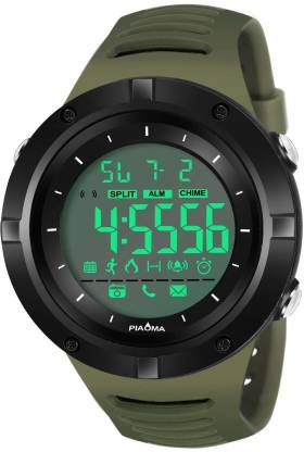 Piaoma 9072Green Digital Black Sports Waterproof Watch Digital Watch - For Men