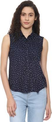 Women Printed Casual Spread Shirt
