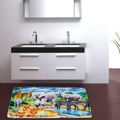 Cortina Microfiber Bathroom Mat Multicolor, Medium  Cortina Bath Mats