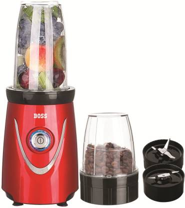 Boss Nutri Pro 550 Watts Juicer Mixer Grinder Blender, 2-Jars, Red 550 Juicer Mixer Grinder (2 Jars, Red)