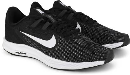 Wmns Downshifter 9 Running Shoes For Women(Black, White)