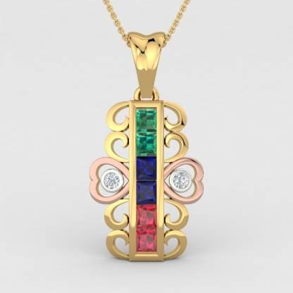 ShipJewel Mystic Pendant-18KT Gold 18kt Diamond Yellow Gold Pendant