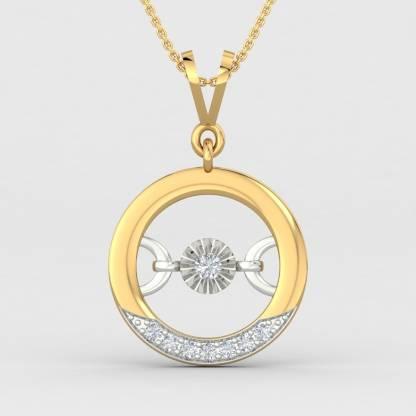 ShipJewel Round Inlay Pendant -18KT Gold 18kt Diamond Yellow Gold Pendant