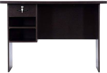 vignesh Solid Wood Office Table Free Standing, Finish Color   black  vignesh Office Study Table