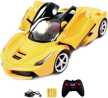 Toyzwonder Remote Controlled Ferrari Car With Opening Doors Yellow Remote Controlled Ferrari Car With Opening Doors Yellow Buy Ferrari Toys In India Shop For Toyzwonder Products In India Flipkart Com
