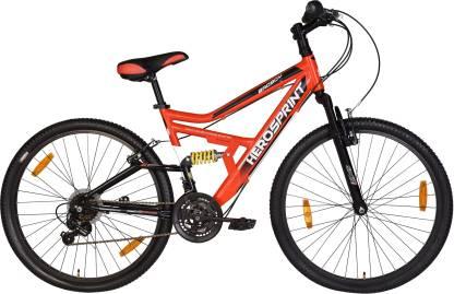 Hero Badboy 26 T Road Cycle 18 Gear, Red, Black  Hero Cycles