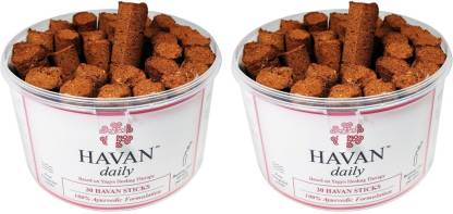 HAVAN Daily Combo Pack (Pack of 60 Sticks), 100% Ayurvedic Formulation Woody Dhoop