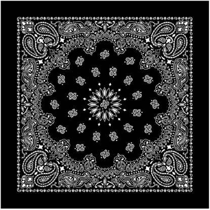 """BISMAADH 100% Cotton [""""Black""""] Handkerchief"""