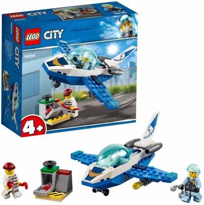 LEGO City Sky Police Jet Patrol Building Blocks for Kids (54 Pcs)60206