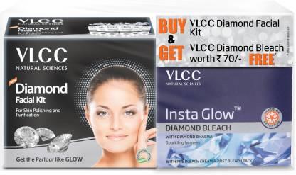 VLCC Diamond facial kit + Insta Glow Diamond Bleach