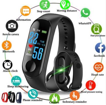 i-BEL M3 Smart Band With Heart Rate Sensor Features Fitness Band