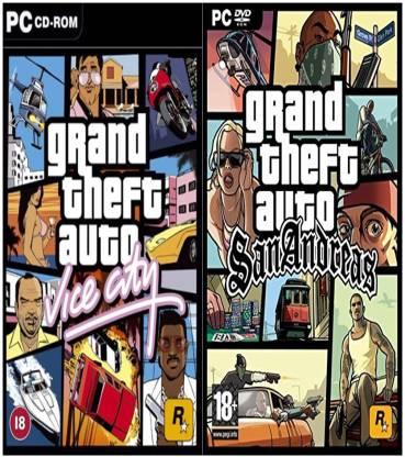 Gta Vice City and Gta SanAndreas COMBO of Two Game (Regular)