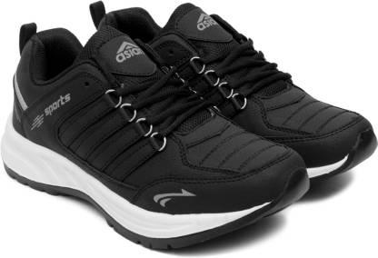 Cosko Black Sports Shoes,Running Shoes,Walking Shoes,Training Shoes, Running Shoes For Men(Black)