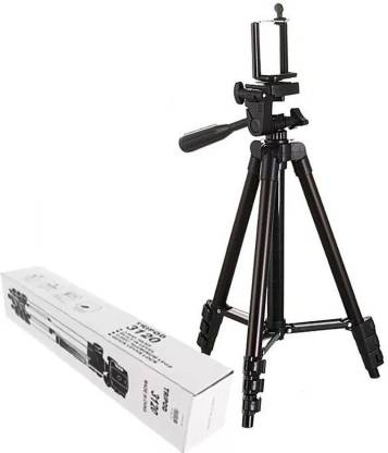 BUY SURETY Good Quality Tripod-3120 Portable Adjustable Aluminum lightweight compact stand With Three-Dimensional Head & Quick Release Plate Tripod professional tripod video Camera Tripod/phone tripod Mount For All Smartphone Tripod