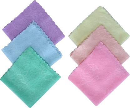 "supermarche Very Soft Women's Cotton Face Towels, Multicolour - Set of 12 [""Multicolor""] Handkerchief"