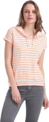 SUGR Short Sleeve Striped Women Sweatshirt