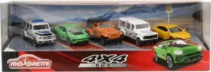 Majorette Diecast Metal Body SUV 5 Pieces Cars Giftpack, freewheel