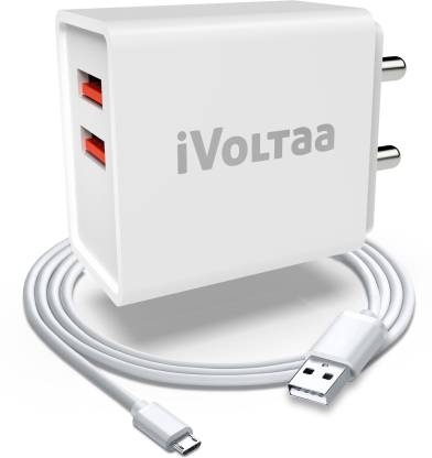 iVoltaa FuelPort 2.4 12 W 2.4 A Multiport Mobile Charger with Detachable Cable
