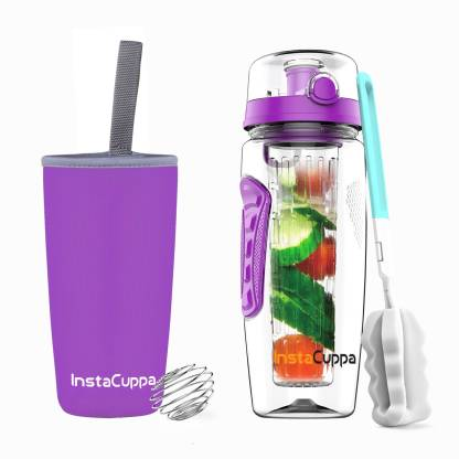 InstaCuppa Fruit Infuser Water Bottle with Free Weight Loss eBook 1000 ml Bottle