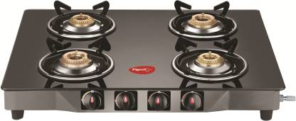 Pigeon Brunet Stainless Steel, Glass Manual Gas Stove