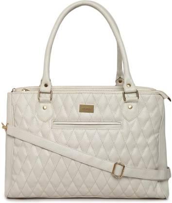 Women White Hand-held Bag