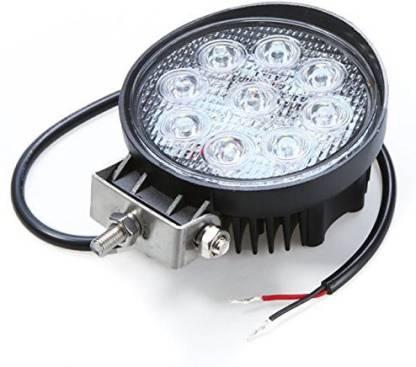 Auto Hub 9led Round Fog Lamp, Back Up Lamp Motorbike, Car LED (12 V, 27 W)