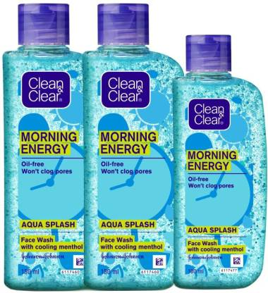 Flipkart - Flipkart: Clean & Clear Morning Energy Aqua Splash Face Wash  (400 ml)
