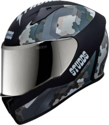 STUDDS THUNDER D5 FULL FACE WITH MIRROR VISOR Motorbike Helmet