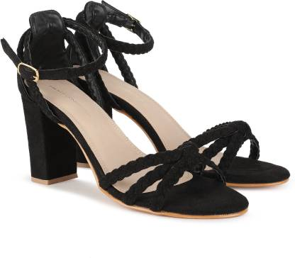 French Connection Women Black Heels