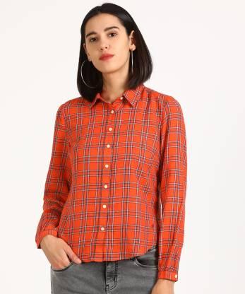 Denizen BNG DNZ JADE LS SHIRT JADE LS SHIRT MAND Women Checkered Casual Multicolor Shirt