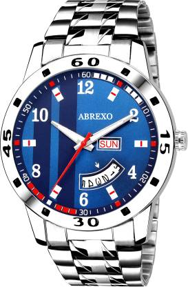 Abrexo Abx2070-Gents BL BLUE Day & Date Analog Watch - For Men
