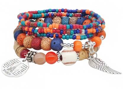 Yellow Chimes Metal Beads Charm Bracelet