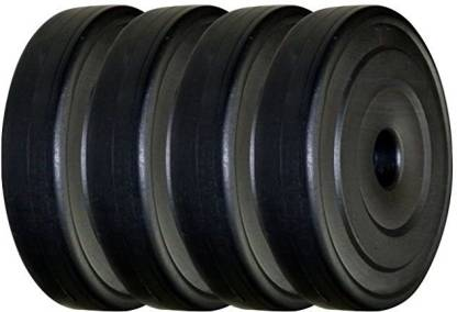 Aurion 20 kg Vinyl Plates for Home Gym Black Weight Plate