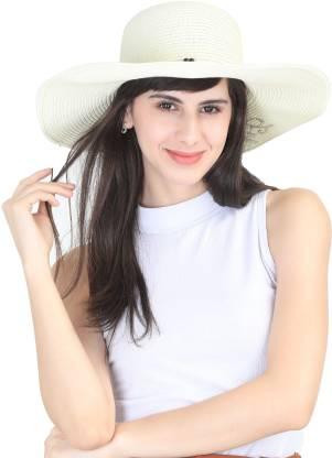 FabSeasons Women's caps & hats(White, Pack of 1)