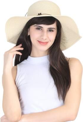 FabSeasons Women's caps & hats(Beige, Pack of 1)