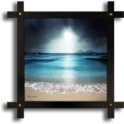 Poster N Frames Cross Wooden Frame Hand-Crafted with photo of landscape scenery Digital Reprint 16.5 inch x 16.5 inch Painting