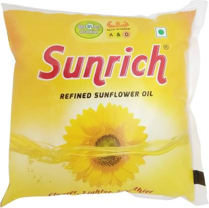 Sunrich Refined Sunflower Oil Pouch