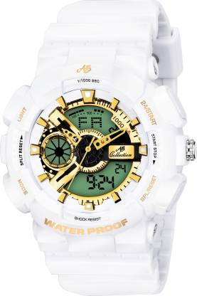 AB Collection Golden Dial G-Style G-007SHOCK Analog-Digital Watch - For Men