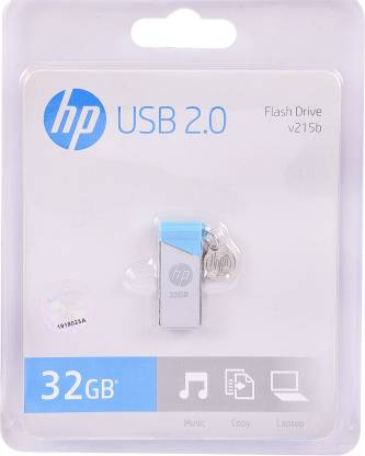 HP V215b 32 GB Pen Drive  (Blue, Grey)