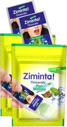 Ziminta Mouth Freshener Orally Disintegrating Strips ( Sugar Free ) - 30 Strips (Pan Masala Flavour) - Pack Of 2 Strip