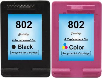 RPS 802 Black   802 Color Cartridge Multi Color Ink Cartridge Black, Yellow, Cyan, Magenta  RPS Supplies