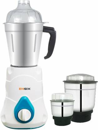 Engix Mini Mixers Butterfly 3 jar Mixer Grinder 750W with One Year Warranty 750 Mixer Grinder White, 4 Jars
