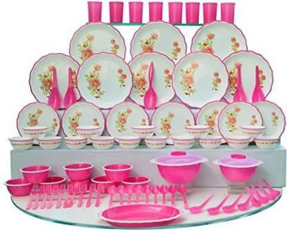 JOYO Pack of 84 Plastic Dinner Set Dinner Set
