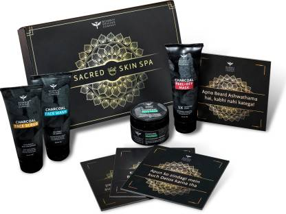 BOMBAY SHAVING COMPANY Charcoal Facial Starter Sacred Kit - Limited Edition