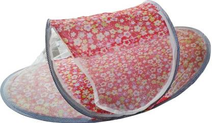 Mopi Cotton Kids Happy Baby Mosquito Bed (Multi-Designed Printed) Mosquito Net