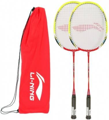 Li Ning XP 80 II, Pack of 2 Red Strung Badminton Racquet