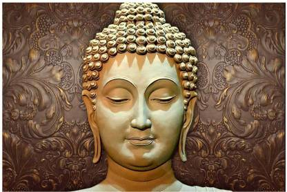 Art Amori Beautiful Buddha Face Sparkle Coated Self Adesive Painting Without Frame Digital Reprint 24 Inch X 36 Inch Painting Price In India Buy Art Amori Beautiful Buddha Face Sparkle Coated