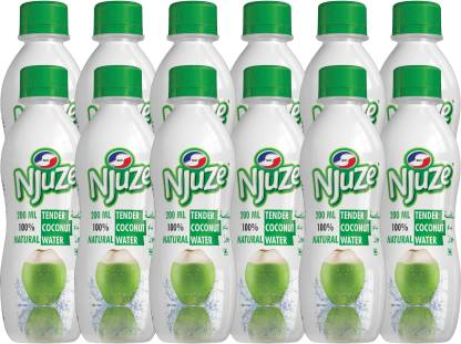 Njuze 100% Natural Tender Coconut Water Drink 200ml,Pack of 12